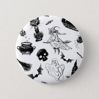 Halloween pattern design button