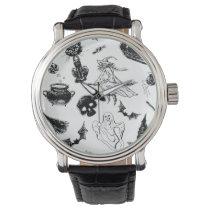 Halloween pattern design wrist watch