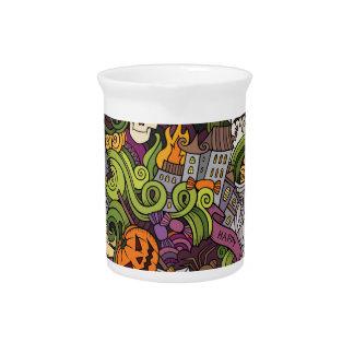 Halloween pattern drink pitcher