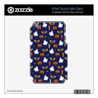 Halloween pattern iPod touch 4G decals