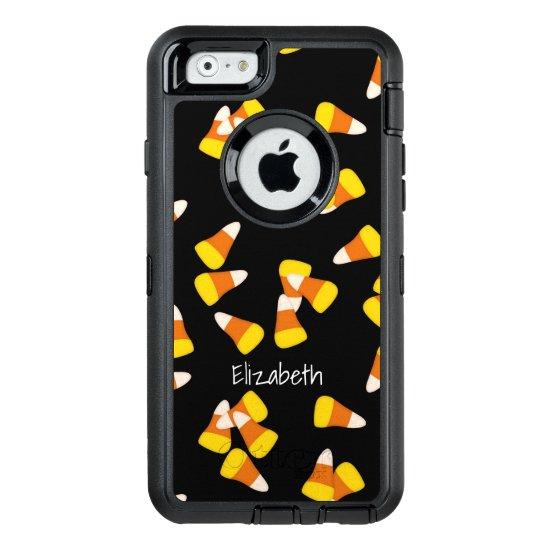 Halloween pattern random candy corn pieces OtterBox defender iPhone case
