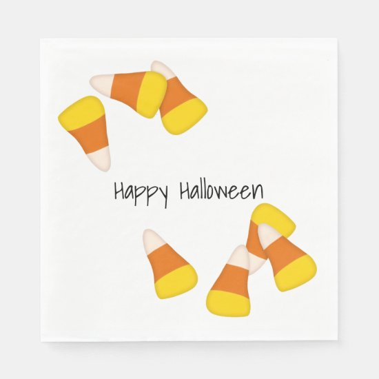 Halloween pattern random candy corn pieces paper napkins
