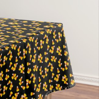 Candy corn pattern tablecloth