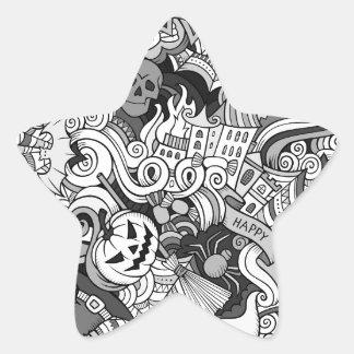 Halloween pattern star sticker