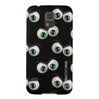 halloween pattern with angry ghosts eyes galaxy s5 case