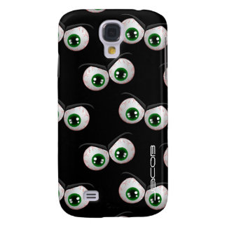 halloween pattern with angry ghosts eyes samsung galaxy s4 case