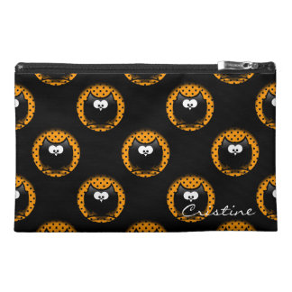 halloween pattern with owls  in hollows travel accessory bag