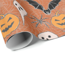 Halloween pattern wrapping paper