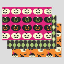 Halloween Pattern Wrapping Paper Sheets