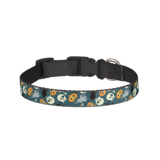 Halloween pattern pet collar