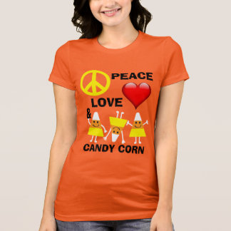 Halloween Peace Love and Candy Corn T-Shirt