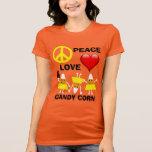 Halloween Peace Love and Candy Corn Tshirt