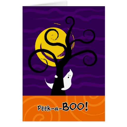 Halloween Peek-a-BOO Greeting Card