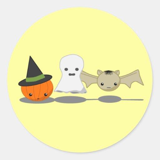 Halloween Etiquetas Redondas