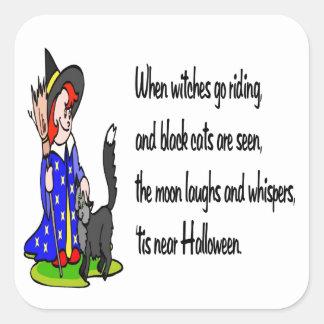 Halloween Pegatina Cuadrada