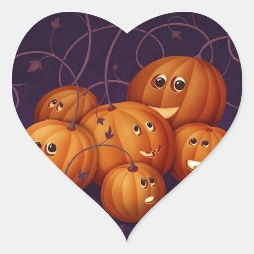 Halloween Pegatina En Forma De Corazón