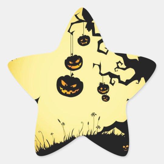 Halloween Pegatina En Forma De Estrella