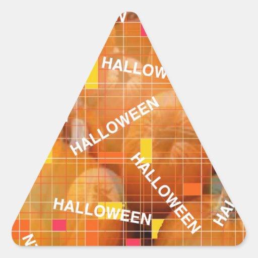 ¡Halloween!!! Pegatina Triangular