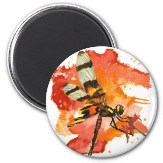 Halloween Pennant Dragonfly 2 Inch Round Magnet