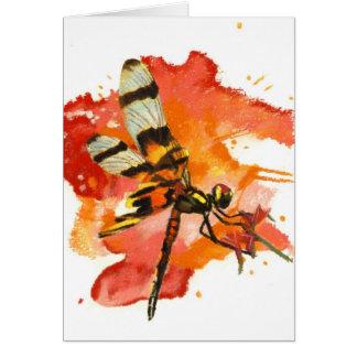 Halloween Pennant Dragonfly Card