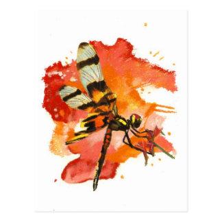 Halloween Pennant Dragonfly Postcard