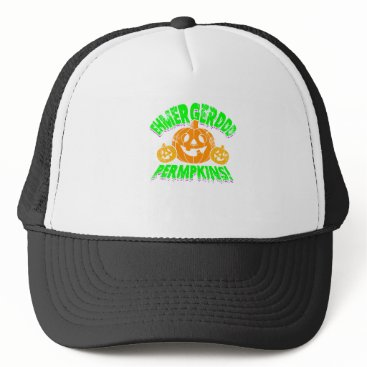 Halloween Themed Halloween, Permpkin Trucker Hat