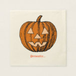 Halloween, Personalized Disposable Napkins