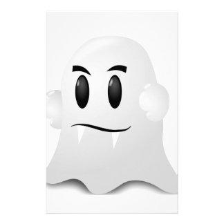 Halloween phantom stationery design