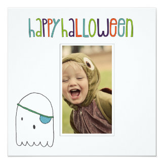 Halloween photo cards announcement