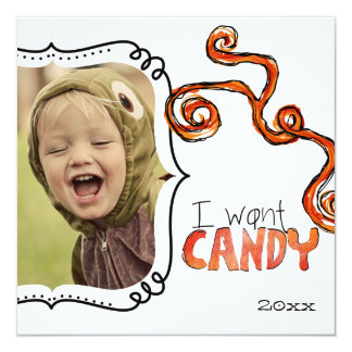 Halloween photo cards personalized announcements