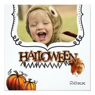 Halloween photo cards invitations