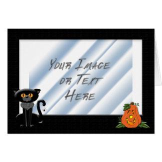 Halloween Photo Frame Card
