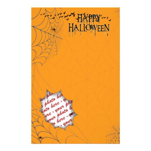 Halloween Photo Frame Custom Stationery