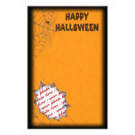 Halloween Photo Frame Personalized Stationery