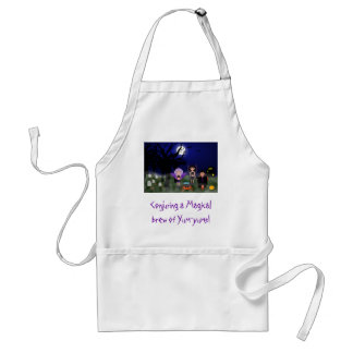 Halloween Picture, Conjuring a Magical brew of ... Apron