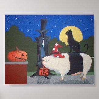 halloween pig print