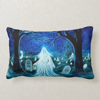 Halloween,pillow,ghost,tombstones,church,yard