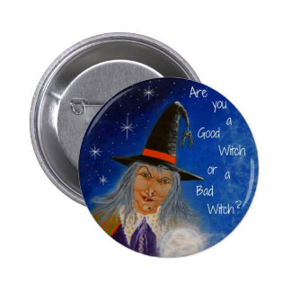 """Halloween pin """"Good Witch,Bad Witch"""""""