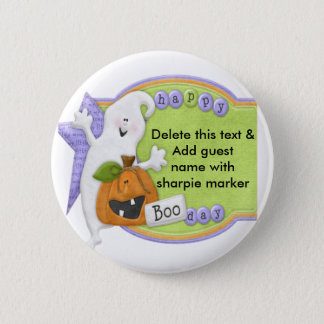 Halloween Pinback Buttons Party Name Pin
