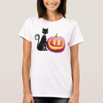 Halloween Pink Ribbon Jack-o-lantern T-Shirt