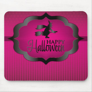 Halloween pink witch mouse pad