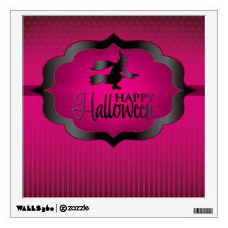 Halloween pink witch wall decal