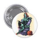 Halloween Pinup Girl Button