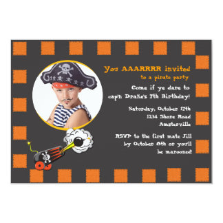 Halloween Pirate Birthday Invitation