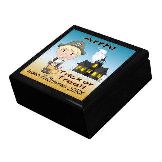 Halloween Pirate Boy Gift Box/Trinket Box