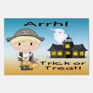 "Halloween Pirate Boy Yard Sign (12""x18"")"