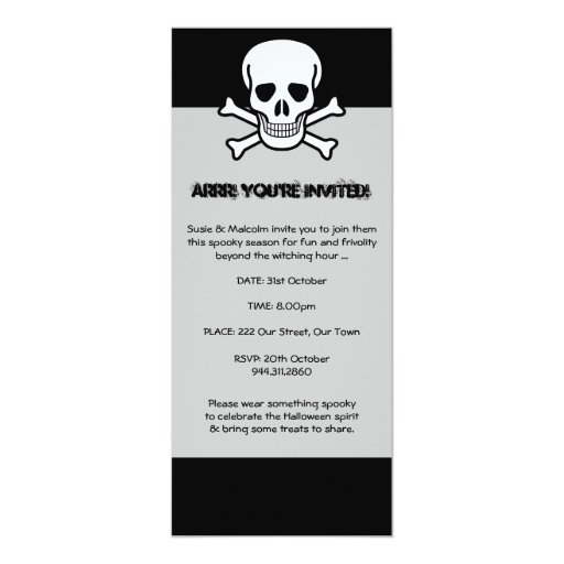 Halloween Pirate Invitation
