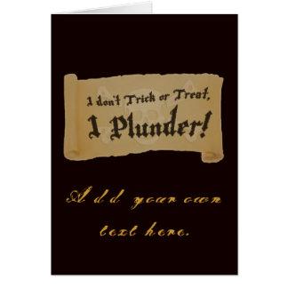 Halloween Pirate Plunder Greeting Card