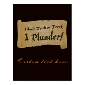 Halloween Pirate Plunder Postcard