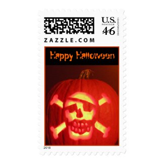 Halloween Pirate Pumpkin Stamps